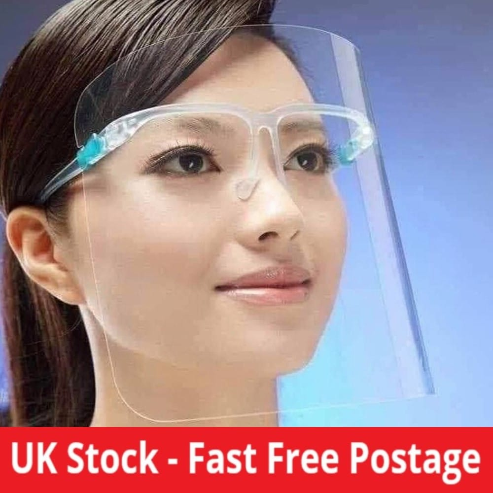 Face shield with Glasses Frame
